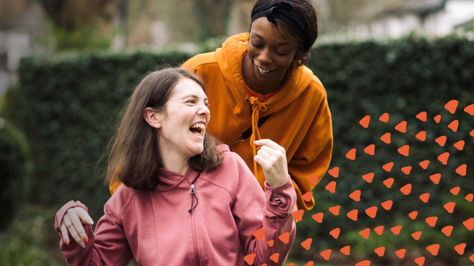 Carer and service user at Active Care