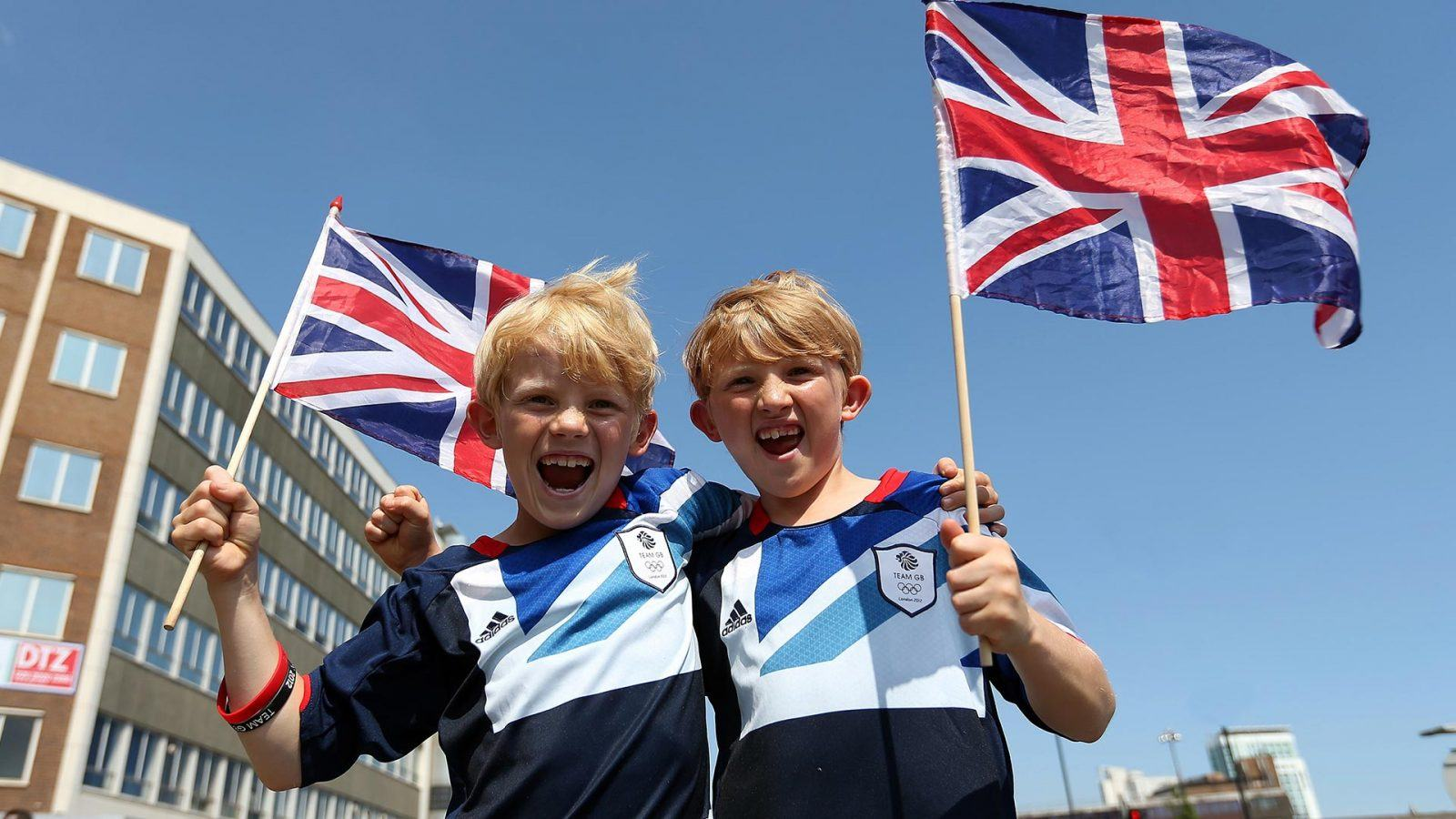 Team GB fans at London 2012